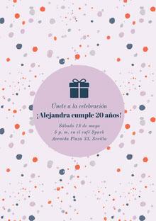¡Alejandra cumple 20 años! Invitación