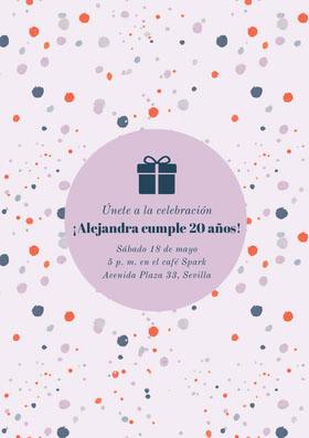 ¡Alejandra cumple 20 años! Invitación de cumpleaños