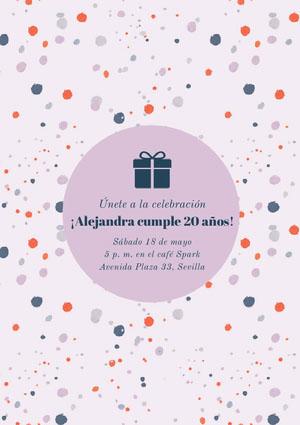 ¡Alejandra cumple 20 años! Invitación de fiesta