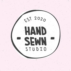 Black and White Handmade Craft Business Logo Crafts