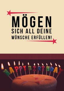 birthday candles birthday cards  Geburtstagskarte