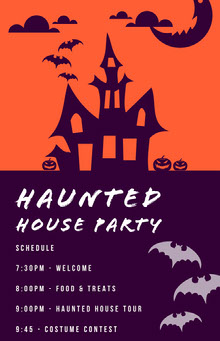 Haunted House Halloween Party Schedule 行程表