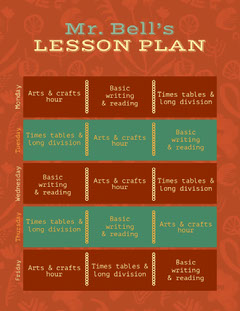 Mr. Bell's LESSON PLAN Back to School