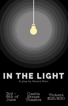 Black Light Bulb Theater Play Poster Play Poster