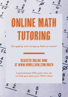 Orange Online Math Tutoring Flyer Math