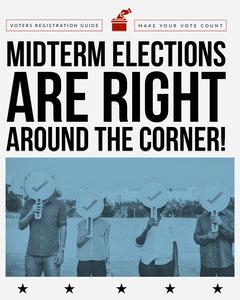 Blue and White Voter Registration Guide Instagram Portrait Election