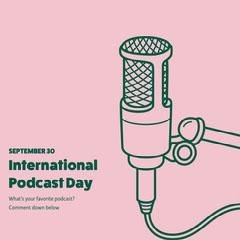 pink green international podcast day instagram  Podcast