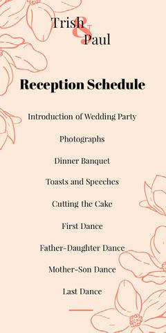 floral red wedding program  Flowers