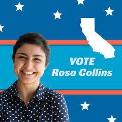 State Government Political Office Candidate Profile Student Council Poster