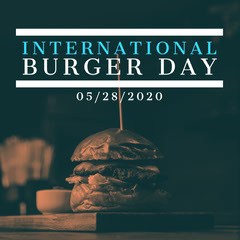 White and Black Interational Burger Day Instagram Square Burger