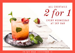 2 for 1 drinks flyer Drink