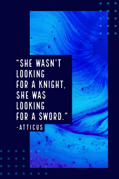 Atticus quote blue abstract pinterest Quote Posters