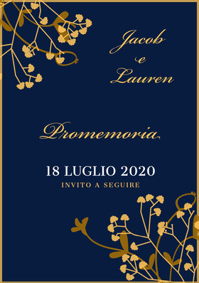 navy blue and gold wedding invitations  Partecipazione