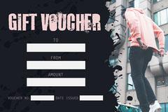 Pink & Black Fashion Grungy Gift Voucher Landscape Paint