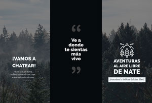 outdoor adventures travel brochures  Folleto