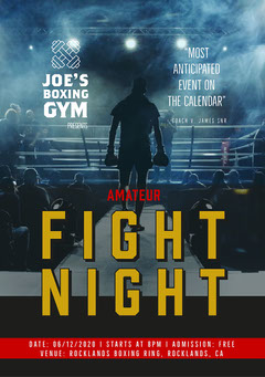 Blue Fight Night Event Flyer A5 Boxing