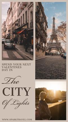city of lights Instagram story Valentine's Day