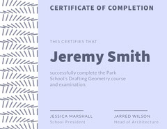 drafting course certificate of completion Educational Course
