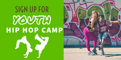 Green and White Hip Hop Camp Social Post Hip Hop Flyer