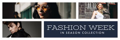 Navy Blue With Collage Fashion Week Banner Fashion Show
