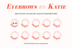 -ink black red eyebrows by Katie loyalty card  Beauty Salon