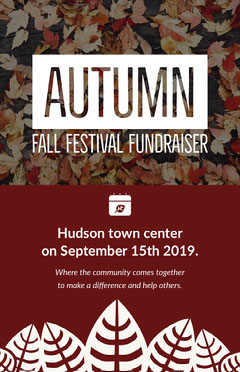Claret and White Autumn Festival Poster Fundraiser