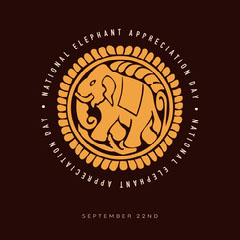 yellow brown national elephant appreciation day instagram  Animal