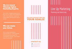 Orange, Red and White Marketing Brochure Card Marketing
