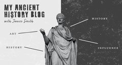 Gray and Black Statue Ancient History Blog Banner  History