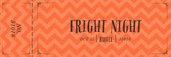 Fright Night Halloween Party Raffle Ticket Event Ticket