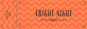 Orange Zig Zag Halloween Party Raffle Ticket Boleto de sorteo