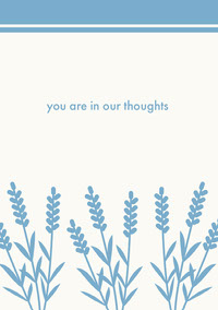 you are in our thoughts  Sympathy Card