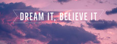 Pink Sky Simple Quote Facebook Profile Cover Sky