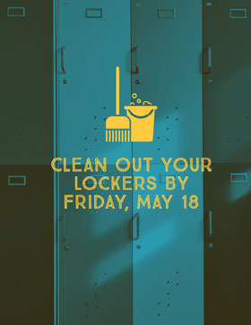 Blue and Yellow Clean Out Your Lockers Flyer Flyer