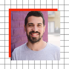 Simple Grid Profile Picture Red