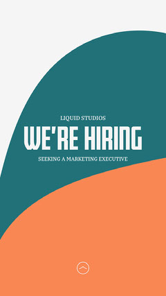 Teal and Orange Shapes Open Position Job Instagram Story Now Hiring Flyer