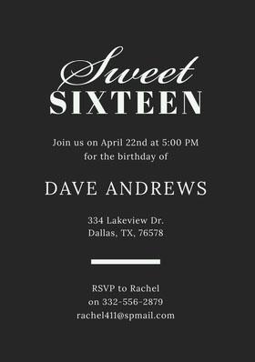 Sweet  Birthday Invitation