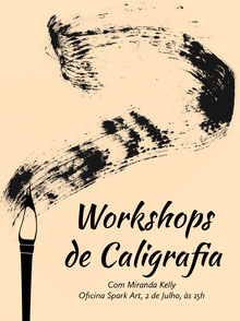 calligraphy workshop event poster  Pôster