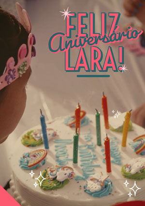 unicorn birthday cake birthday cards  Cartão de aniversário