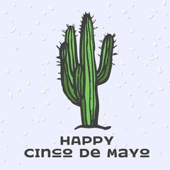 Happy Cinco De Mayo Instagram Square Cactus