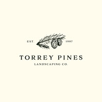 Black and White Landscaping Company Logo with Pine Cones logo YouTube