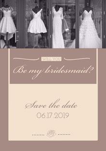 Be my bridesmaid?