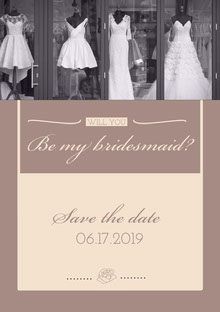 Be my bridesmaid? Convite de casamento