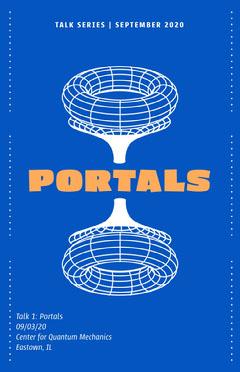 Portals Talk Series Poster Science