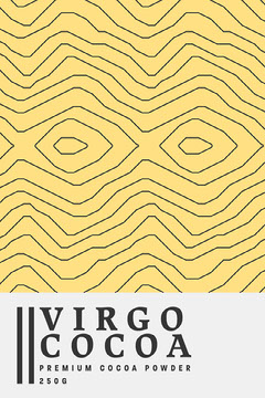 Yellow & White Virgo Cocoa Packaging label Portrait Yellow