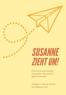 Susanne zieht um! Einladung
