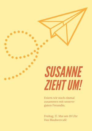Susanne zieht um! Einladung zur Party