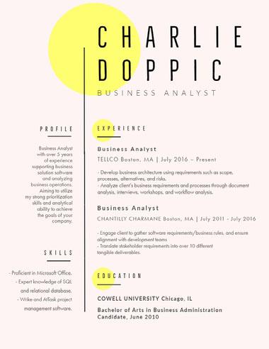 CHARLIE<BR>DOPPIC Best Fonts for Your Résumé