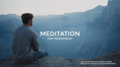 Blue and White, Light Toned Meditation Blog Cover Wellness