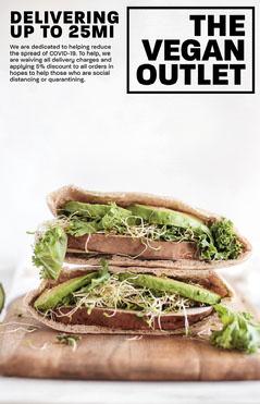 White And Green Sandwich Vegan Outlet Poster Vegan